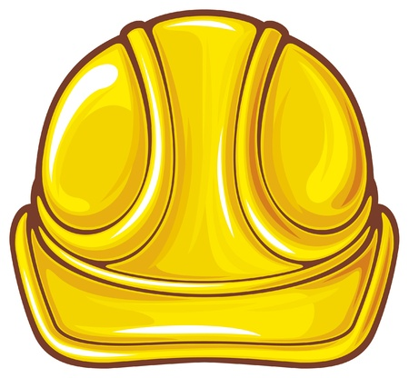 hard hat: construction workers hard hat  protective helmet  Illustration