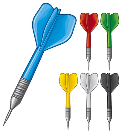 set of darts Stock Vector - 17920198