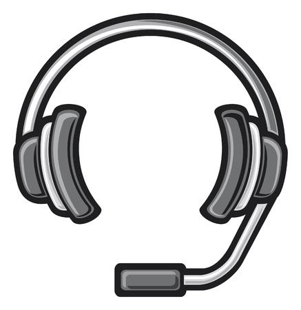 audifonos dj: call center auriculares auriculares de DJ, auriculares, auriculares s�mbolo icono Vectores