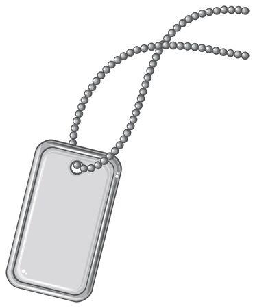 dangle: blank metallic identification plate