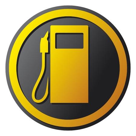 benzyna stacja benzynowa stacja ikona symbol Ilustracje wektorowe