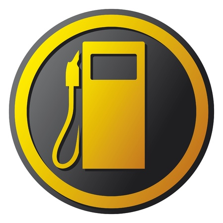 gasolina gasolinera icono de la estación símbolo Ilustración de vector