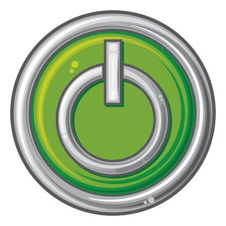 power button  power on button Stock Vector - 17971618