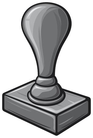 sello de goma negro sello, sello de la oficina