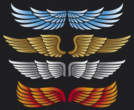 paloma caricatura: alas conjunto de recopilaci�n de alas