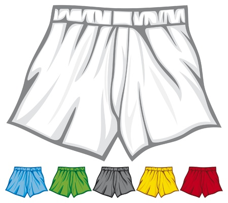 briefs: boxer shorts collection  underwear, men s boxer shorts, man underwear, underwear men s boxer shorts, underwear set  Illustration
