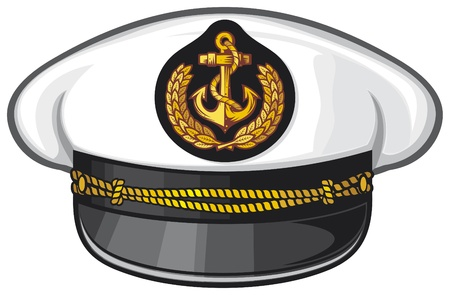 navy ship: captain hat