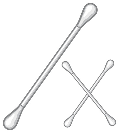 swab: ears stick  ear pick, cotton stick, white cotton swabs