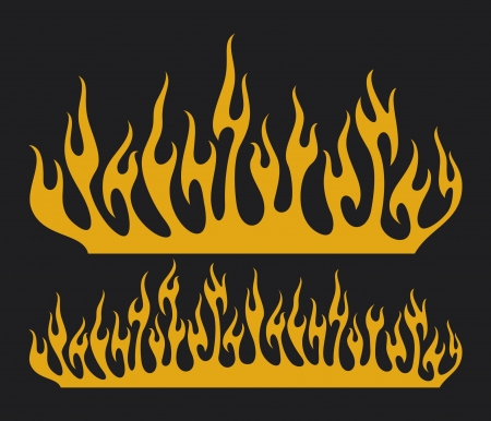 burn flame  burning fire flame, fire flame Stock Vector - 17920032