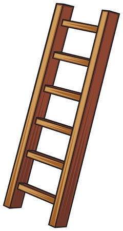 clambering: illustration of a wooden ladder Illustration
