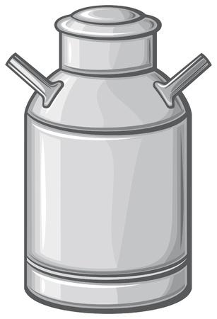 aluminum can: milk can  retro aluminum milk can  Illustration