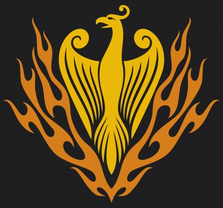 mythical phoenix bird: Phoenix bird