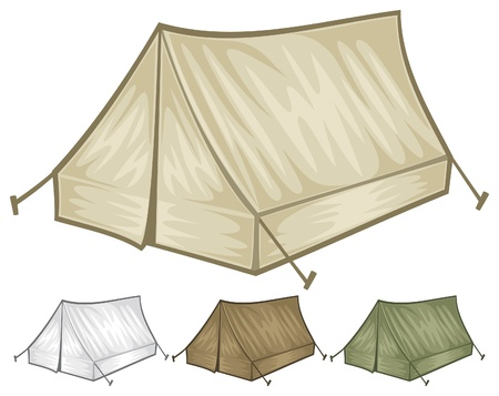 tourist tent for travel and camping   illustration of a tent  Illustration