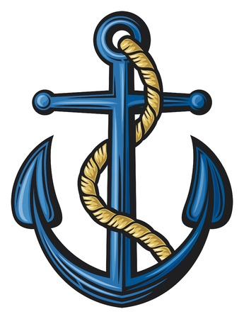 navy blue: anchor illustration Illustration