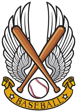 baseball club emblem  baseball label, baseball design, baseball symbol  Vector