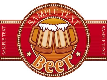 jarra de cerveza: cerveza de diseño de etiquetas