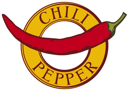 cayenne: chili pepper label