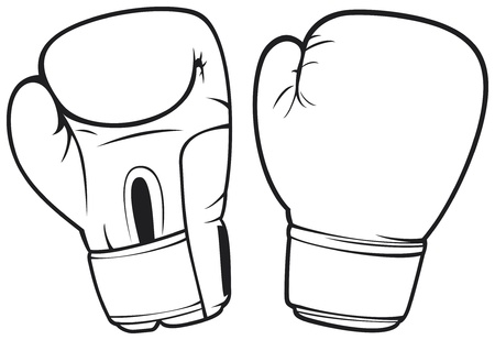 gant blanc: gants de boxe