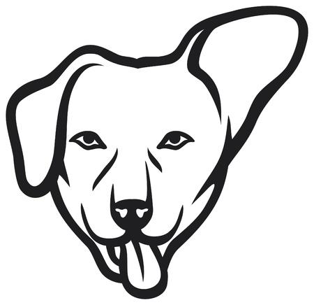 dog nose: cane faccia Vettoriali
