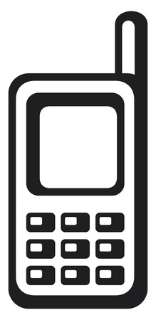mobile phone icon Stock Vector - 18076465