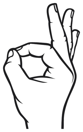 Human okay hand sign  OK hand symbol  Vector