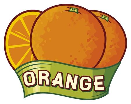 Orange label design Vector