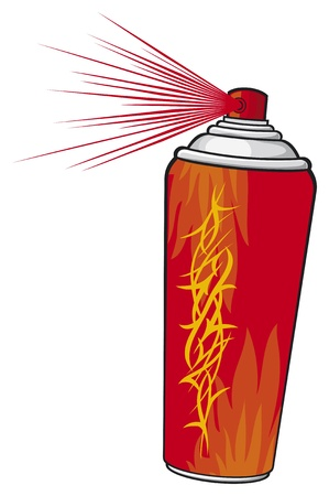 aerosol stencil Vector