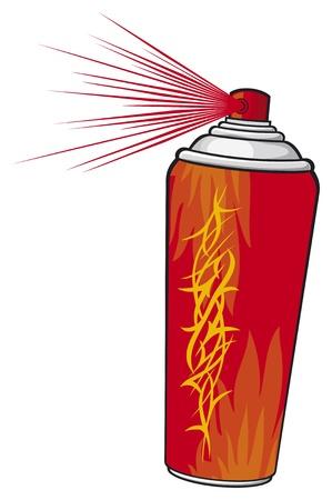 spray paint can: aerosol stencil