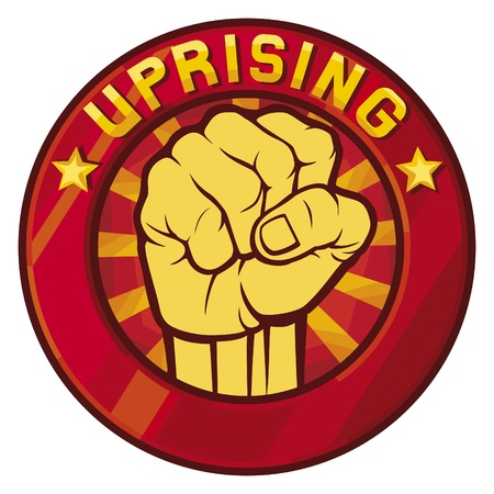 uprising symbol  badge, sign  Vector