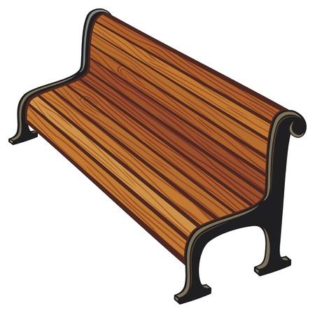 antique chair: park bench