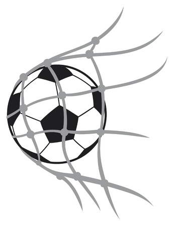 vector balón de fútbol balón de fútbol, ??balón de fútbol por el fútbol, ??balón de fútbol en la red, icono del fútbol, ??portería de fútbol, ??portería de fútbol Ilustración de vector