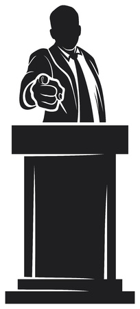 man giving speech  orator speaking at a podium, man speaking at a conference Stock Vector - 18179879