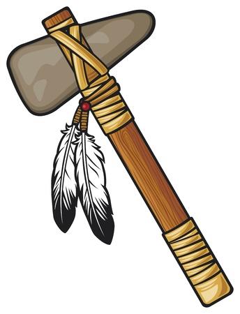 indios americanos: nativo americano tomahawk Vectores