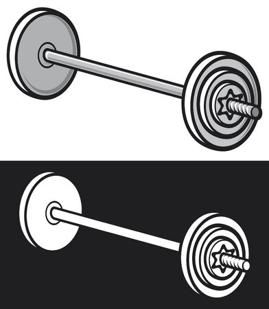 barre: weight  dumbbell  Illustration