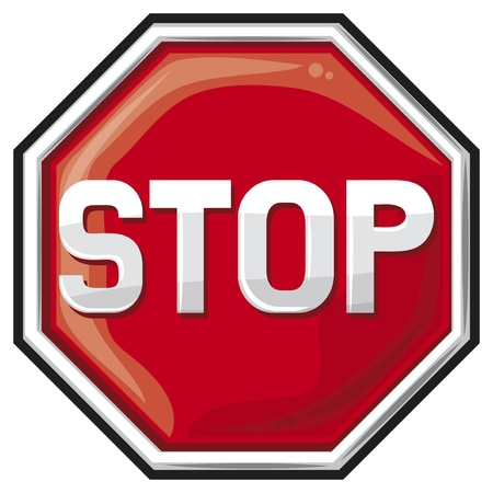 restricted area sign: stop sign (traffic stop sign)