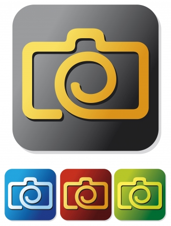 reflex: camera icon set  compact digital camera, digital photo camera button