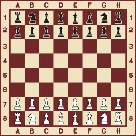 vaincu: table d'�checs avec des chiffres, y compris le roi, la reine, une tour, un pion, chevalier, et �chiquier �v�que avec les chiffres pour le jeu d'�checs, ic�nes, set illustration des pi�ces d'�checs, des figures d'�checs