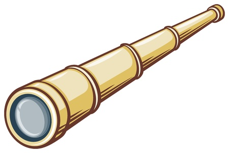 antique binoculars: spyglass (illustration of a telescope) Illustration