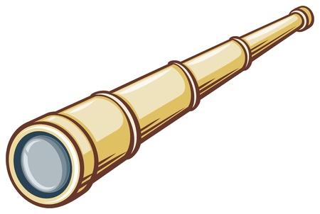 astronomer: spyglass (illustration of a telescope) Illustration