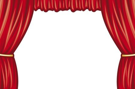 curtain theater: rojo teatro cortina (cortina de escenario teatral)
