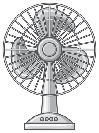table fan (fan for the home and office, electric fan) Vector
