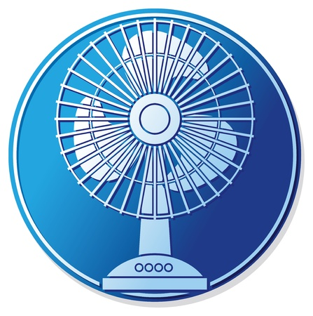 table fan button (fan for the home and office, electric fan icon, table fan symbol) Vector