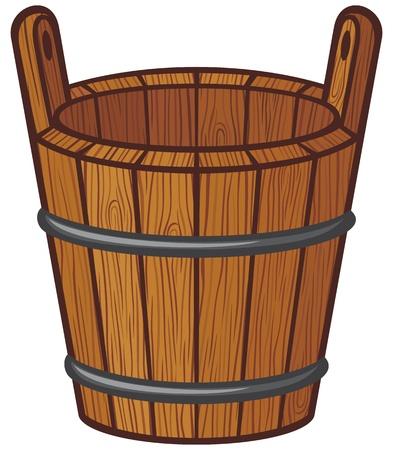 wooden bucket Stock Vector - 18421633