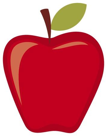 fruited: red apple Illustration