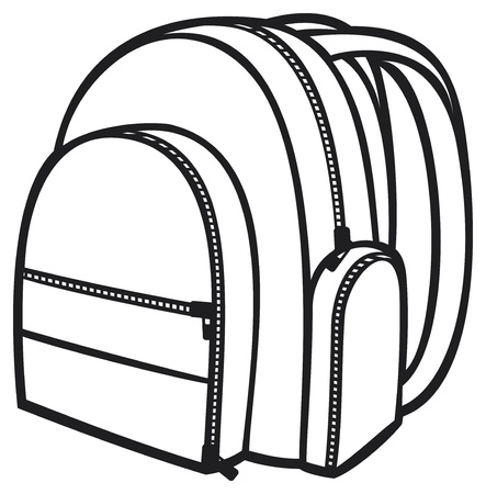 bag pack  backpack, school bag  Stock Vector - 18661617