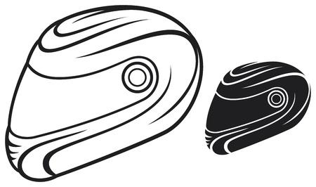 motor race: vector illustratie van de motorhelm