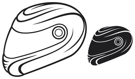 motorcycle helmet: vector illustration of motorcycle helmet