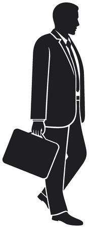 careerist: businessman walking with his briefcase  man walking with briefcase