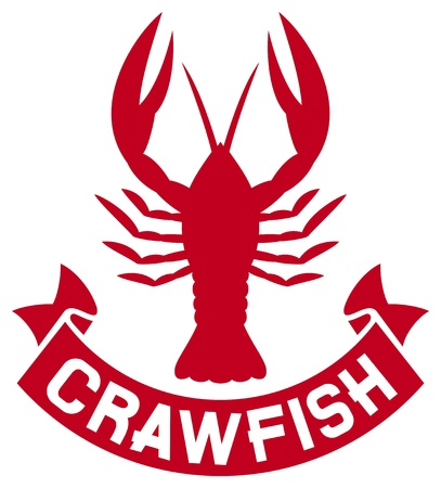 crawfish: crawfish label  crawfish silhouette, crayfish icon, lobster sign, crawfish symbol