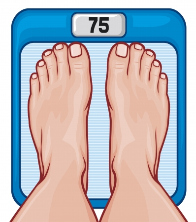 weight reduction plan: feet on the scale  scale spot